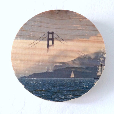 Afternoon Fog Golden Gate Bridge Photo Transfer