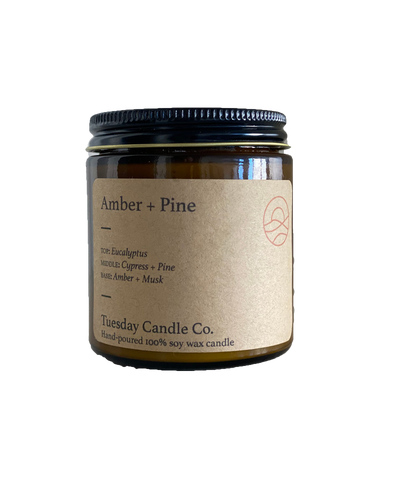Amber + Pine candle