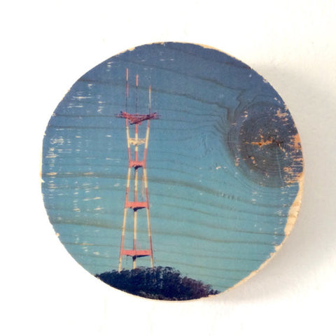 Blue Sky Sutro Tower Photo Transfer