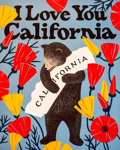 I Love You California Bold Print