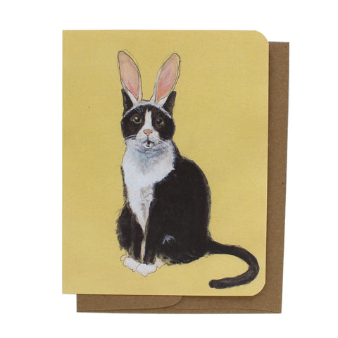 Cat Bunny Greeting Card