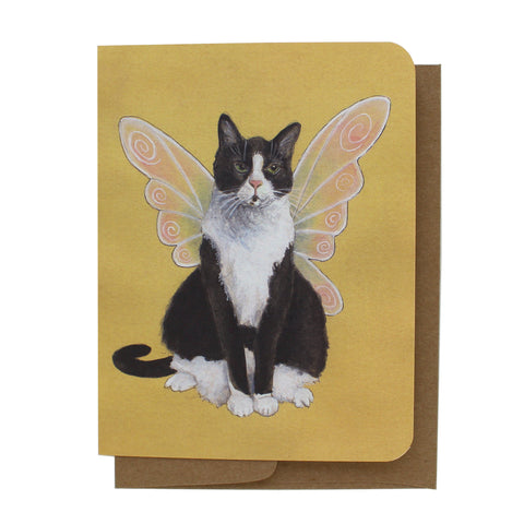 Cat Fairy Greeting Card