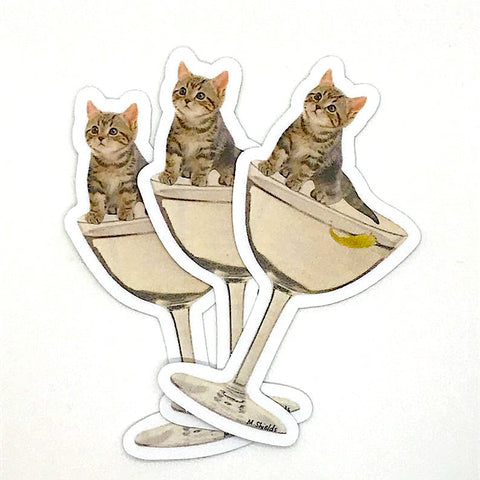 Kitten on Cocktail sticker