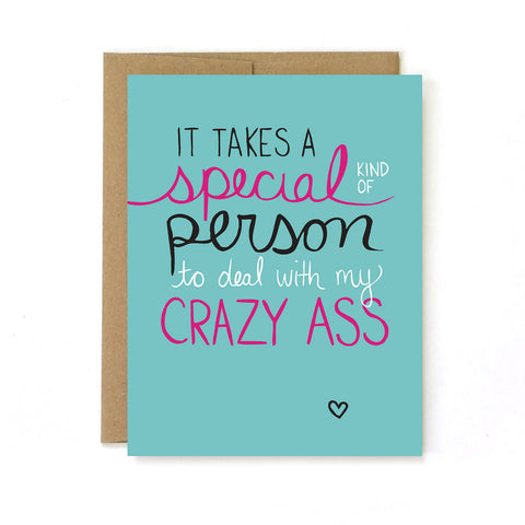 Crazy Ass Greeting Card