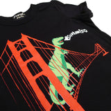Dinosaur on the Golden Gate Bridge Kid's T-Shirt
