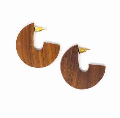 Disc Hoops - Mango or Teak