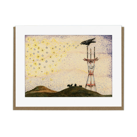 Crow Sutro Greeting Card
