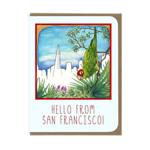 SF Parrot Greeting Card