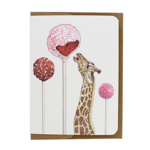 Cakepop Giraffe Greeting Card