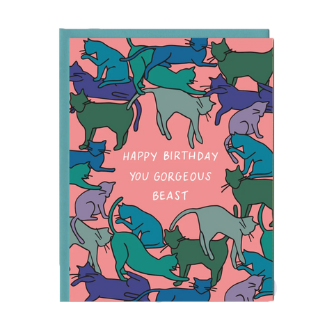 Gorgeous Beast Birthday Greeting Card