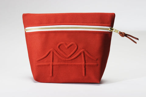 Left My Heart in SF Cosmetic Bag
