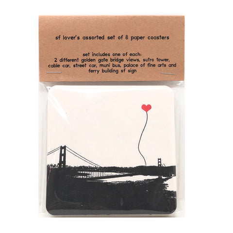 SAN FRANCISCO LOVER'S PAPER COASTERS