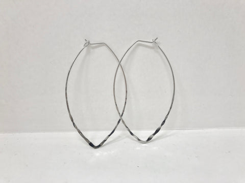 Leaf Shape Hoops