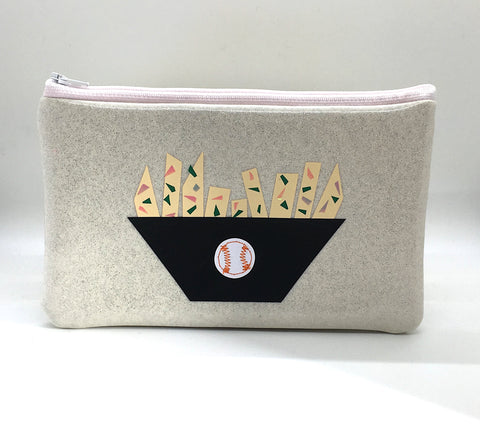 Glitter Zipper Pouch - Fries