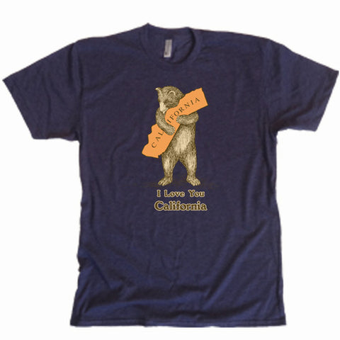 """I Love You California"" Bear Hug Men's T-Shirt"