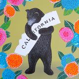 """I Love You California"" Dahlia Print"