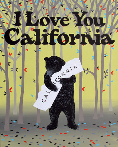 """I Love You California"" Folk Love Print"