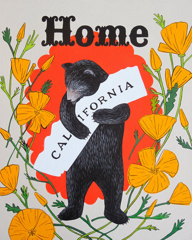 """I Love You California"" Poppy Home Print"