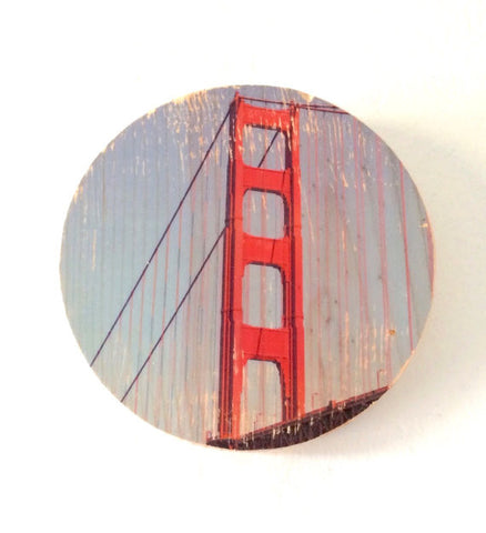 International Orange: Golden Gate Bridge Photo Transfer