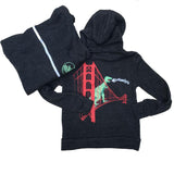 DINOSAUR ON THE GOLDEN GATE BRIDGE KID'S HOODIE