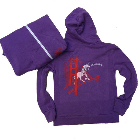 UNICORN ON THE GOLDEN GATE BRIDGE KID'S HOODIE