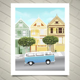 VW Buses in San Francisco art prints