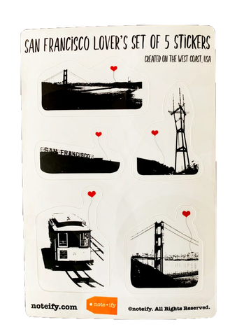 San Francisco Lover's Sticker Set
