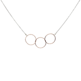 Triple Circle Diamond Cut necklace