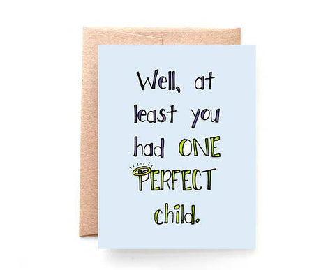 One Perfect Child greeting card