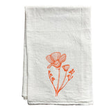 CA Poppy Tea Towel