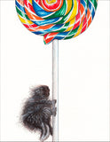 Porcupop Greeting Card