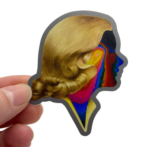 Rainbow Face Lady sticker