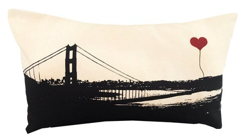SF Lover's GGB rectangular pillow