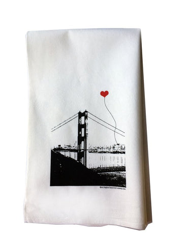 SF Lover's Golden Gate Bridge tea towel