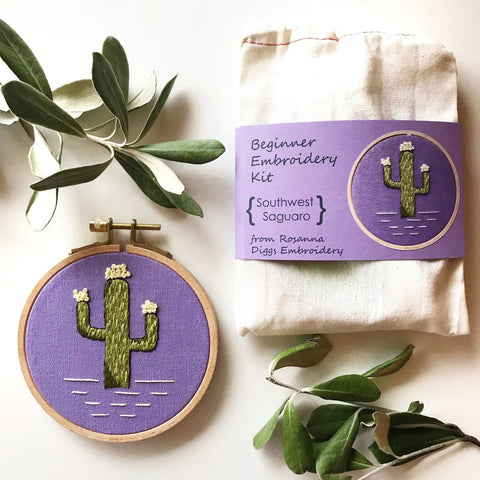 DIY Saguaro Cactus Embroidery Kit
