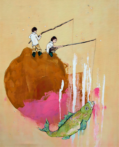 The Fishing Pond Art Print