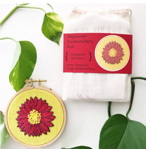 Gerbera Daisy Embroidery Kit