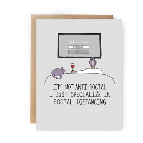 Anti-Social Greeting Card
