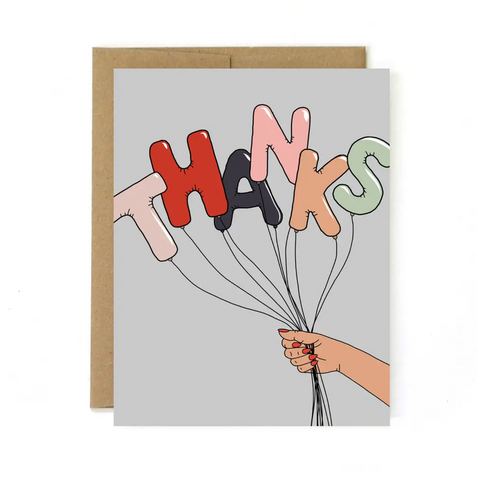 Thanks Balloons Greeting Card