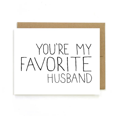 Favorite Husband Greeting Card