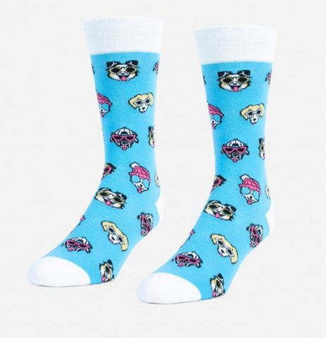 Dogs and Sunglasses Mens socks