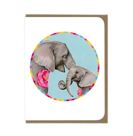 Elephant Mama Greeting Card