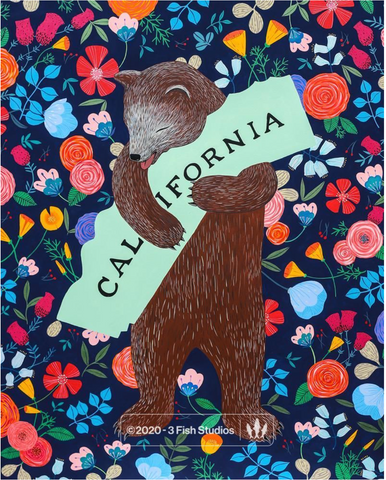I Love You California Midnight Print