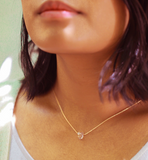Rose Quartz Drop and Herkimer Diamond Necklace