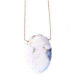 White Marble Opal Necklace