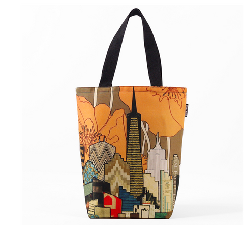 SF Skyline Poppy Tote