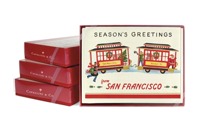 Season's Greetings Trolley card pack
