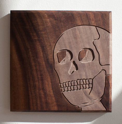 Routed Wood Skull