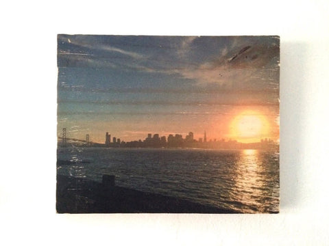 Skyline View from Treasure Island Photo Transfer