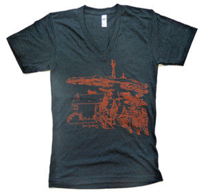 Sutro Tower Unisex Vneck T-Shirt
